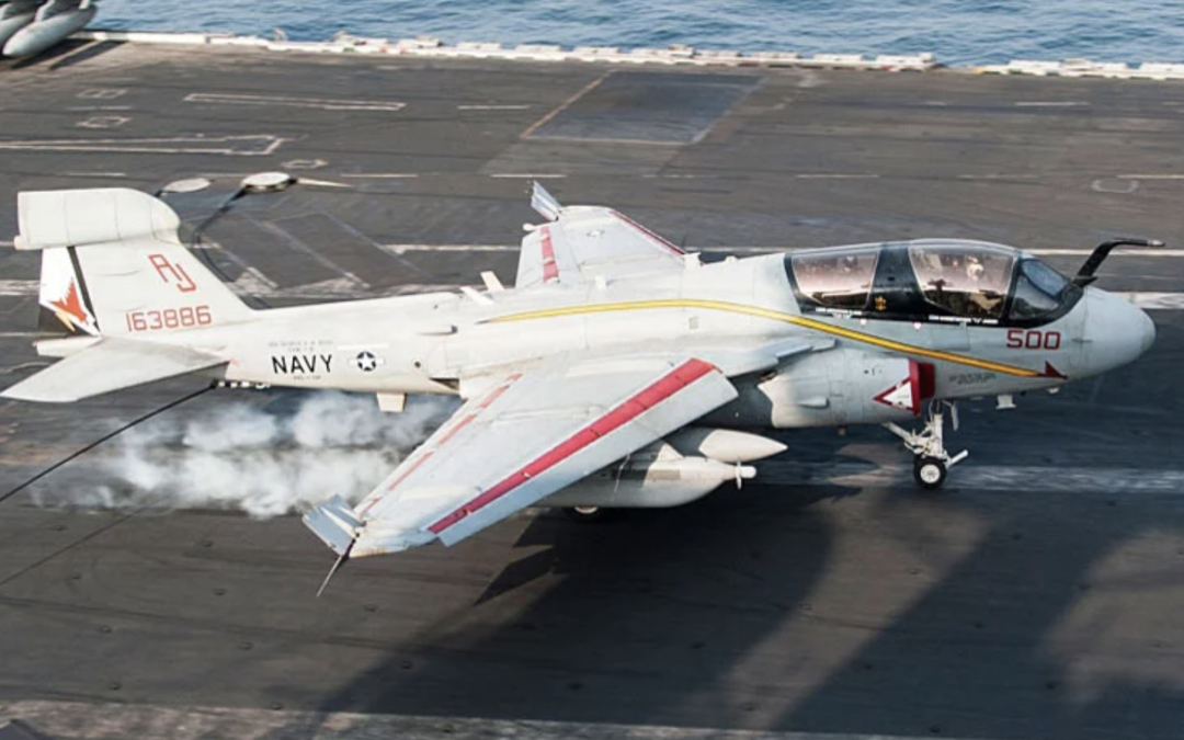 EA-6B Prowler Makes Its Final Flight for Navy