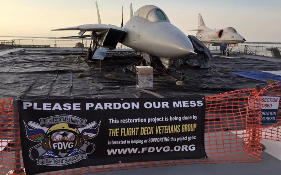 Progress continues on-board the USS Yorktown's F-14 restoration project